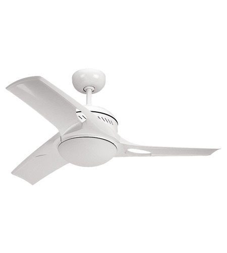 Monte Carlo Fan Company Mach Two 1 Light Fan in White 3MTR38WHO-L photo