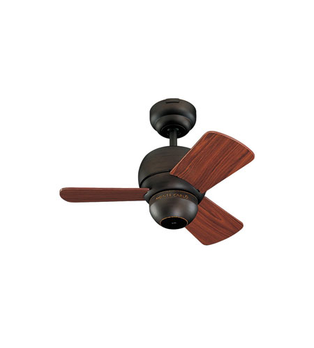 Monte Carlo Fans 3TF24RB Micro 24 24 inch Roman Bronze with Teak Blades Ceiling Fan photo