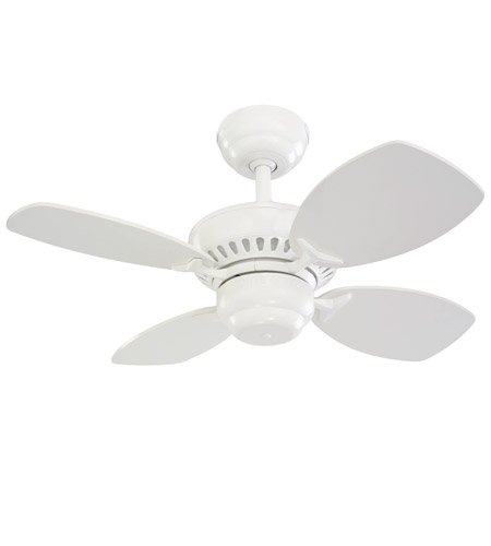 Monte Carlo Fans 4CO28WH Colony II 28 inch White Ceiling Fan photo