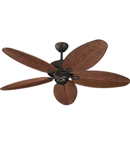 Monte Carlo Fans 5CU52RB Cruise 52 inch Roman Bronze with American Walnut ABS with Grain Blades Outdoor Ceiling Fan photo