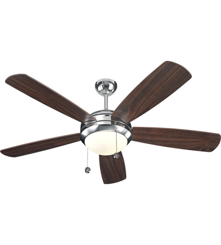 Monte Carlo Fan Company Discus 1 Light Fan in Polished Nickel 5DI52PND photo