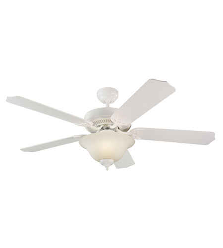Monte Carlo Fan Company Homeowner Max Plus 2 Light Fan in White 5HM52WHD photo