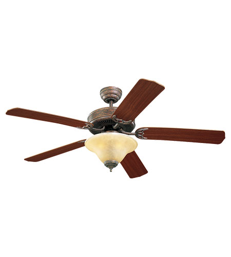 Monte Carlo Fans 5HS52TBS-L Homeowners Deluxe 52 inch Tuscan Bronze with Mahogany Blades Ceiling Fan in 3, Tea Stain Mission photo