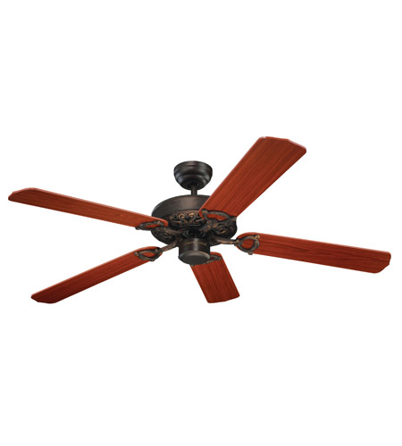 Monte Carlo Fans 5OR52RB Ornate 52 inch Roman Bronze with Teak Blades Fan photo
