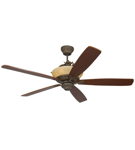 Monte Carlo Fan Company Royal Danube 6 Light Fan in Roman Bronze 5RDRRB photo
