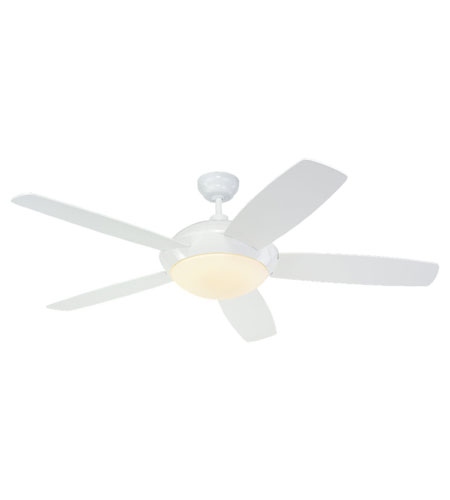 Monte Carlo Fans 5SLR52WHD-B Sleek 52 inch White White Fan in Matte Opal photo