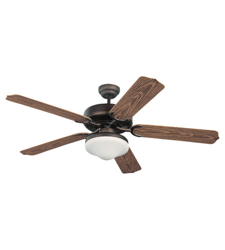 Monte Carlo Fans 5WF52RBD-L Weatherford Deluxe 52 inch Roman Bronze with American Walnut ABS w/Grain Blades Outdoor Ceiling Fan photo