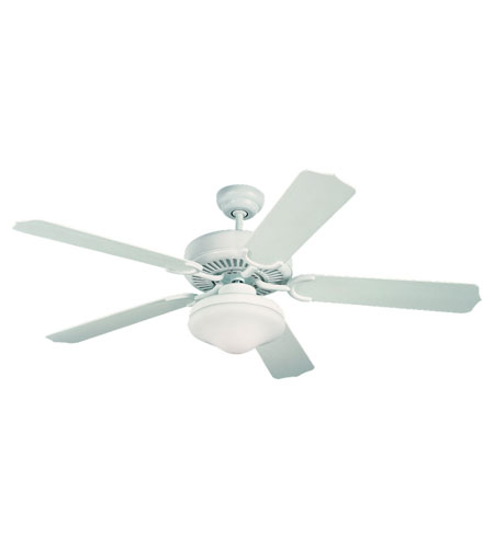 Monte Carlo Fans 5WF52WHD-L Weatherford Deluxe 52 inch White with White ABS Blades Outdoor Ceiling Fan photo