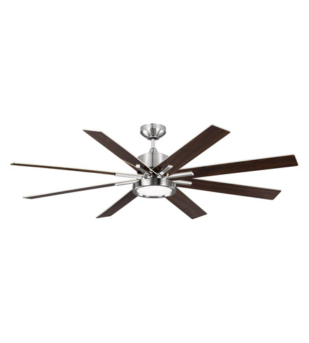 Monte Carlo Fans 8eedr60bsd Empire Downrod 60 Inch Brushed Steel With Gloss Walnut Blades Indoor