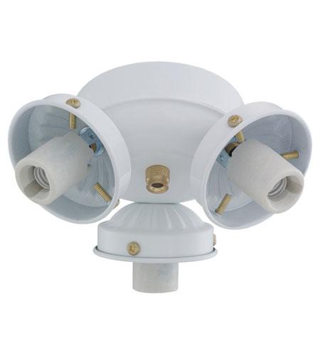 Monte Carlo Fan Company 2.25in Neck 3 Light Fitter in White H3WH-L photo