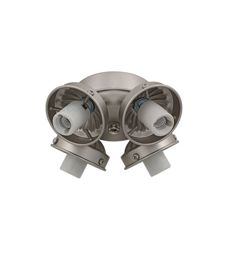 Monte Carlo Fans H4BP-L Signature Brushed Pewter Light Fitter in 4, Shades not included photo
