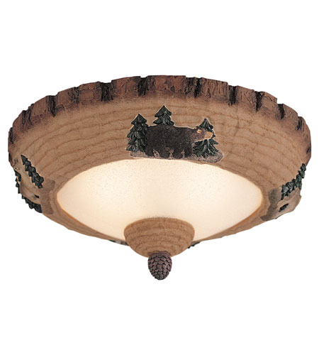 Monte Carlo Fan Company Wilderness Bowl 3 Light Light Kit in Tan Scavo MC102-L photo