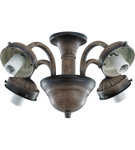 Monte Carlo Fans MC183MB 2.25in Neck 4 Light Mediterranean Bronze Fitter photo