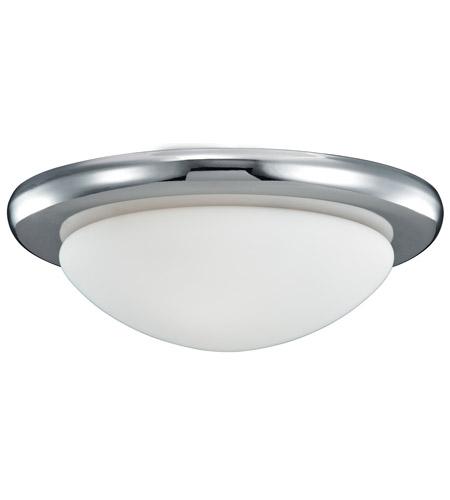 Monte Carlo Fan Company Matte Opal Disk 1 Light Light Kit in Polished Nickel MC18PN photo