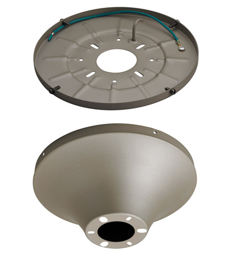 Monte Carlo Fan Company Semi-Flush Mount Wet Heavy Duty Canopy Canopy in Titanium MC192TI photo