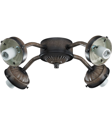 Monte Carlo Fan Company 2.25in Neck 4 Light Fitter in Mediterranean Bronze MC37MB photo