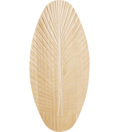 Monte Carlo Fan Company 52in Carved Wood Palm Leaf Blades Blade Set in Light Teak Wood MC5B192 photo