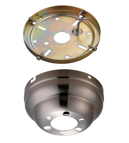Monte Carlo Fans MC90BS Signature Brushed Steel Flush Mount Canopy photo