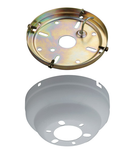 Monte Carlo Fan Company Flush Mount Canopy Kit Fan Accessory in Textured White MC90TW photo