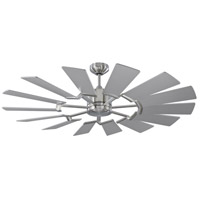 Monte Carlo Fans 14PRR52BSD Prairie 52 inch Brushed Steel with Washed Oak Blades Outdoor Ceiling Fan