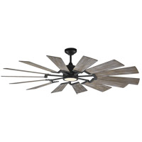 Prairie 62 inch Aged Pewter with Light Grey Weathered Oak Blades Ceiling Fan