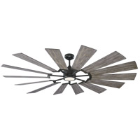 Prairie 72 inch Aged Pewter with Light Grey Weathered Oak Blades Outdoor Ceiling Fan