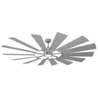 Monte Carlo Fans 14PRR72BSD Prairie 72 inch Brushed Steel with Washed Oak Blades Outdoor Ceiling Fan