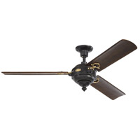 Monte Carlo Fans 3AOR60ATIHAB Arezzo 60 inch Antique Iron and Hand-Rubbed Antique Brass with Dark Walnut Blades Indoor Ceiling Fan