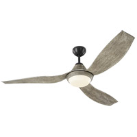 Avvo 56 inch Aged Pewter with Light Grey Weathered Oak Blades Outdoor Ceiling Fan