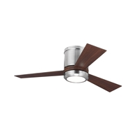 Clarity II 42 inch Brushed Steel with Teak ABS Blades Ceiling Fan