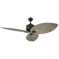 Monte Carlo Fans 3DLR56AGP Delray 56 inch Aged Pewter with Light Grey Weathered Oak Blades Outdoor Ceiling Fan