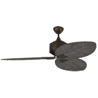 Monte Carlo Fans 3DLR56RB Delray 56 inch Roman Bronze with Dark Walnut Blades Outdoor Ceiling Fan
