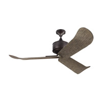 Dylan 56 inch Aged Pewter with Light Grey Weathered Oak Blades Outdoor Ceiling Fan