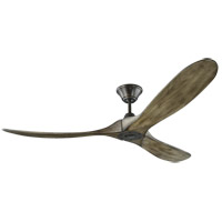 Maverick 60 inch Aged Pewter with Light Grey Weathered Oak Blades Ceiling Fan