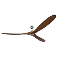Monte Carlo Fans 3MAVR88BSKOA Maverick Super Max 88 inch Brushed Steel with Koa Blades Indoor-Outdoor Ceiling Fan