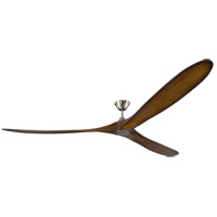 Monte Carlo Fans 3MAVR99BSKOA Maverick Grand 99 inch Brushed Steel with Koa Blades Ceiling Fan