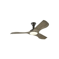 Monte Carlo Fans 3MNLR56AGPD-V1 Minimalist 56 inch Aged Pewter with Light Grey Weathered Oak Blades Indoor-Outdoor Ceiling Fan