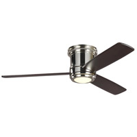 Monte Carlo Fans 3TAHR56PNDMD TOB by Thomas O'Brien Aerotour 56 inch Polished Nickel with Dark Mahogany Wood Blades Indoor Semi-Flush Ceiling Fan photo thumbnail