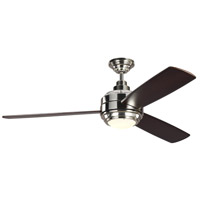 Monte Carlo Fans 3TAR56PNDMD TOB by Thomas OBrien Aerotour 56 inch Polished Nickel with Dark Mahogany Wood Blades Indoor Ceiling Fan