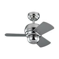 Micro 24 24 inch Polished Nickel with Silver Blades Ceiling Fan