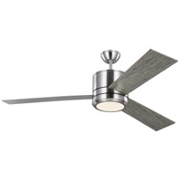 Vision Max 56 inch Brushed Steel with Silver Blades Indoor-Outdoor Ceiling Fan