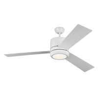 Monte Carlo Fans 3VNMR56RZWD-V1 Vision Max 56 inch Matte White Indoor-Outdoor Ceiling Fan