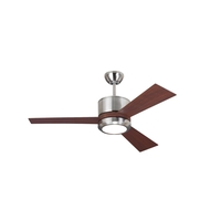 Vision II 42 inch Brushed Steel Teak ABS Ceiling Fan