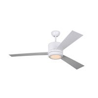 Monte Carlo Fans 3VNR52RZWD-V1 Vision 52 inch Matte White with Matte White/Matte White Blades Indoor Ceiling Fan