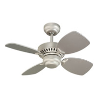 Monte Carlo Fan Company Colony II Petite Fan in Brushed Pewter 4CO28BP photo thumbnail