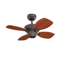 Monte Carlo Fan Company Colony II Petite Fan in Roman Bronze 4CO28RB