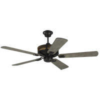 Artizan 56 inch Aged Pewter with Light Grey Weathered Oak Blades Ceiling Fan