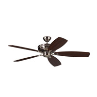 Bonneville Max 60 inch Brushed Steel with Silver and American Walnut Blades Ceiling Fan