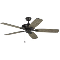 Colony Max 52 inch Aged Pewter with Light Grey Weathered Oak Blades Outdoor Ceiling Fan
