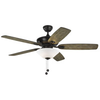 Colony Max Plus 52 inch Aged Pewter with Light Grey Weathered Oak Blades Outdoor Ceiling Fan